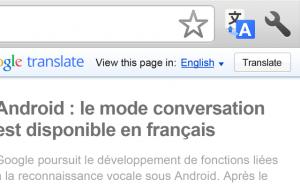 Google Translate Extensión Chrome