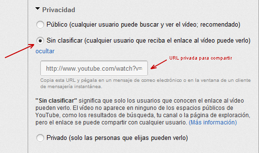 Video Sin clasificar en YouTube