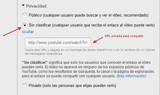 Video Sin clasificar en YouTube