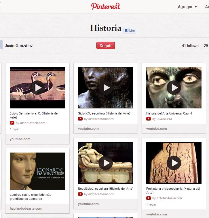 Pinterest como curador de contenidos educativos