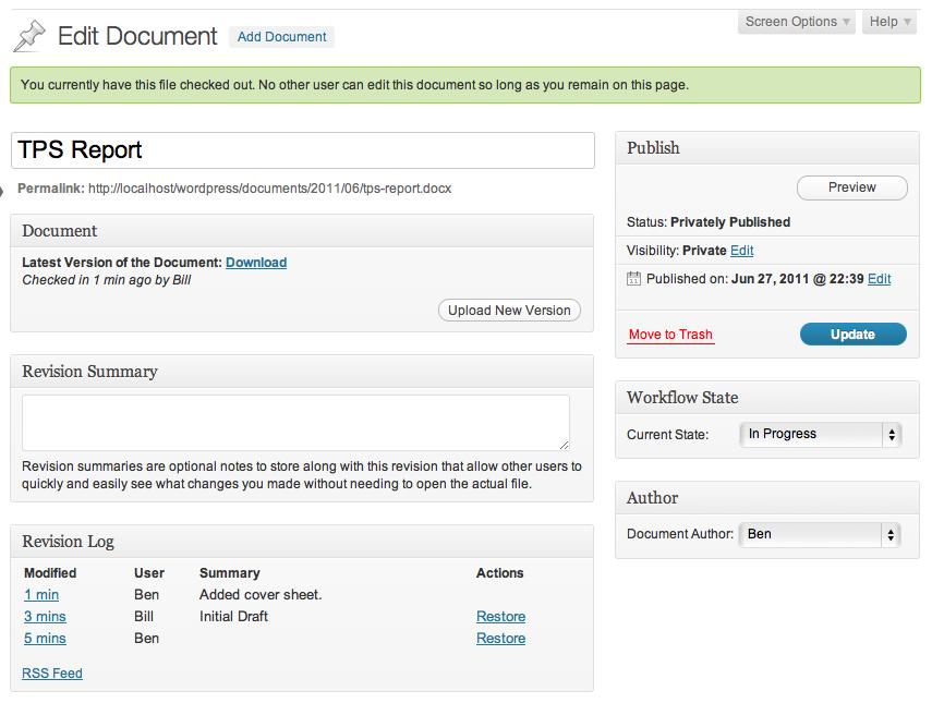 gestor documentos wordpress
