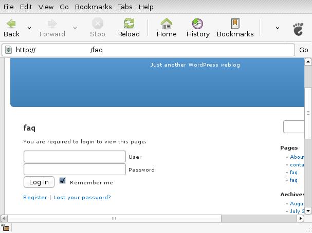 restringir una página entrada wordpress plugin