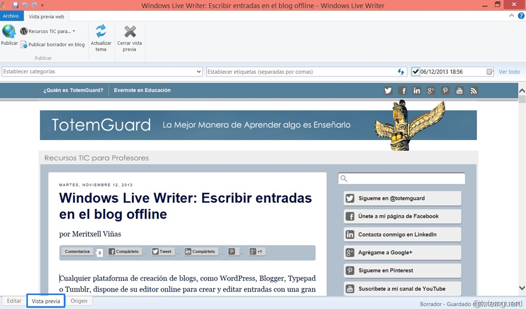 Windows Live Writer: Blogging with ease offline | New Technologies ...