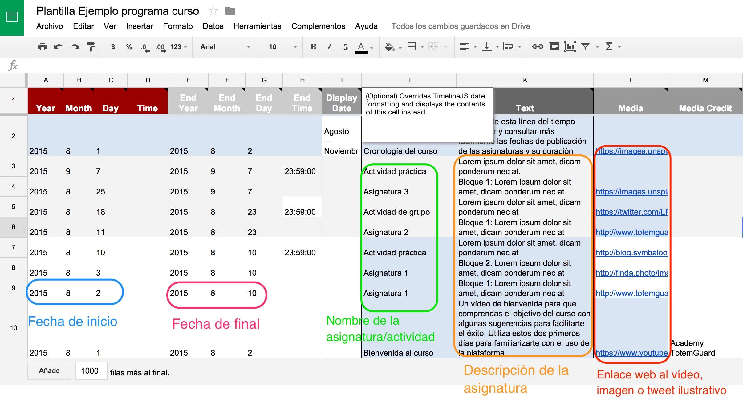 Plantilla_Ejemplo_programa_curso_-_Hojas_de_cálculo_de_Google timeline