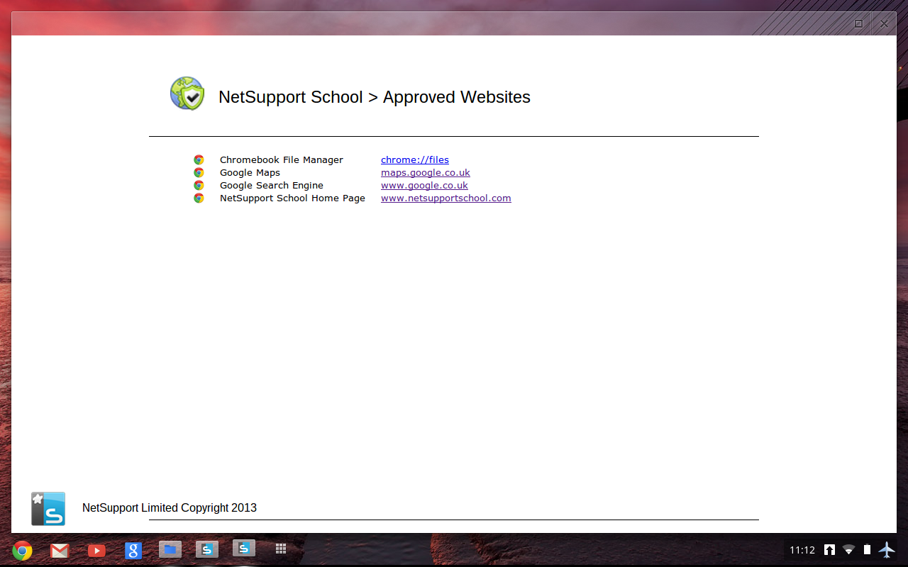 Acceso Web Chromebook