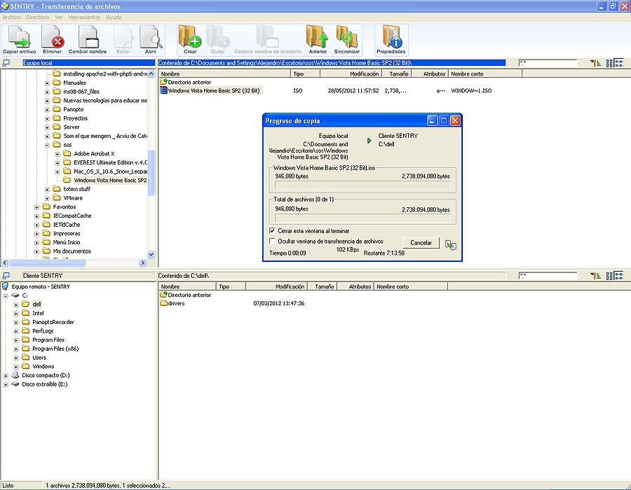 Transferencia de ficheros