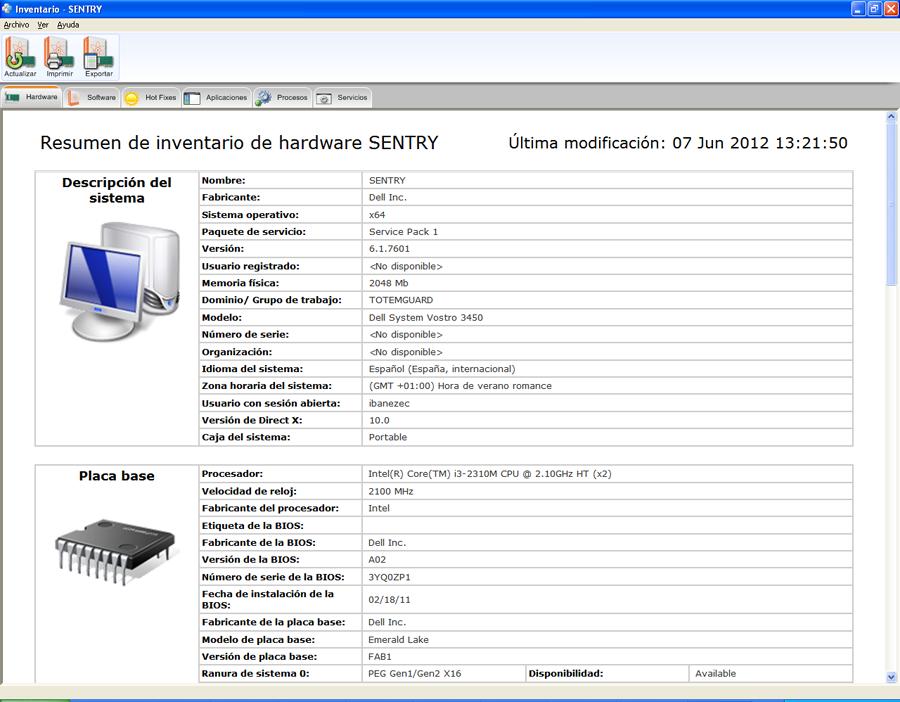 inventario de hardware y software