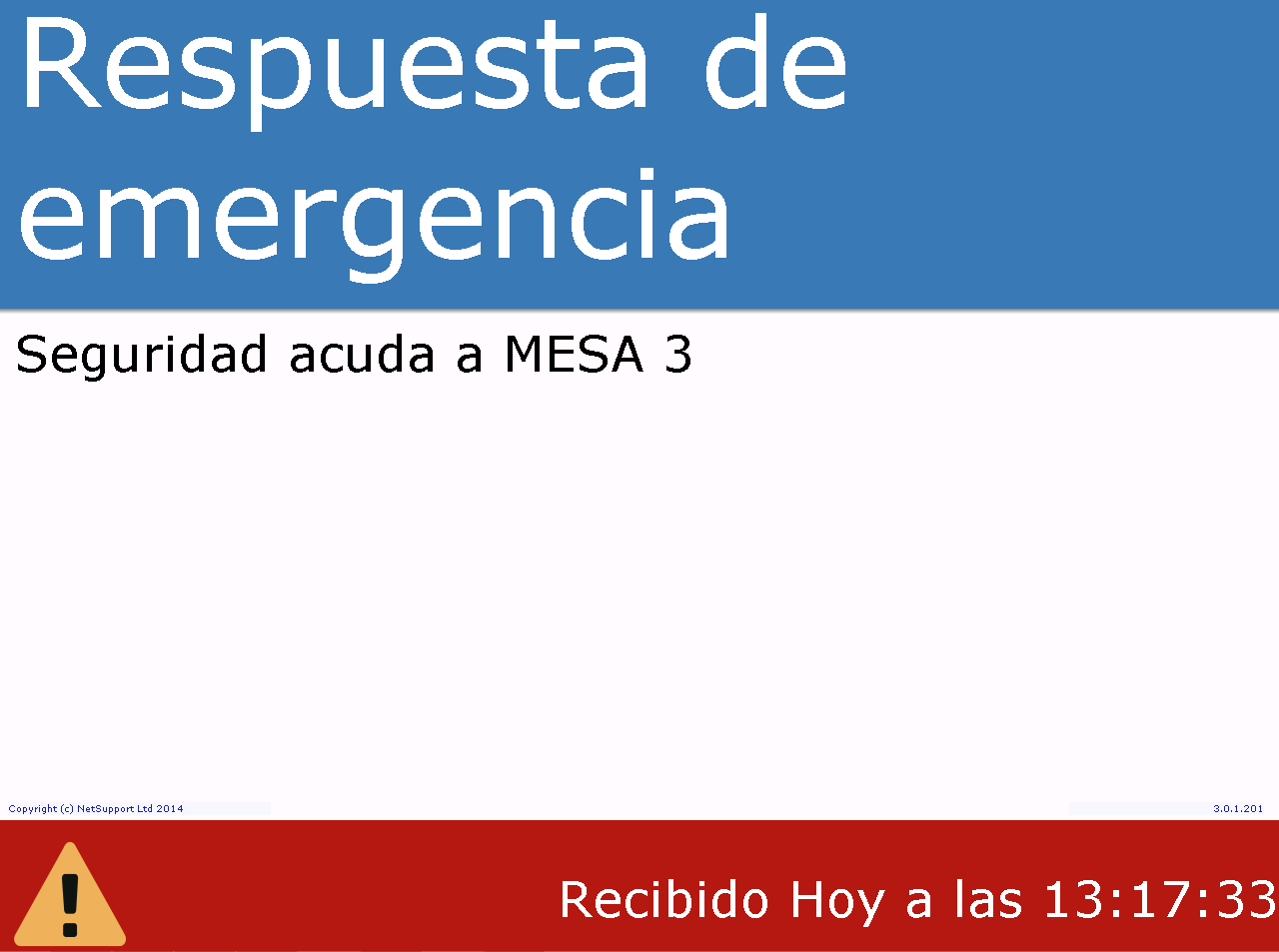 mensaje emergencia notify
